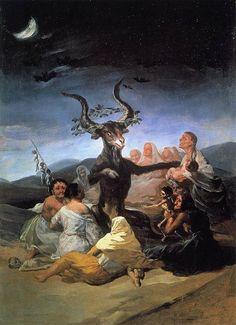 Goya - Le Sabbat des sorcières, 1820 (via : wikipedia)