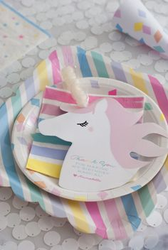 Unicorn Table Setting