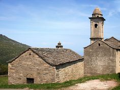Corsica - Capicorsu - Cap Corse - Brando Parocchia Chapelle Notre-Dame des Neiges et l'église Santa Maria Assunta Brando (Haute-Corse) - http://fr.wikipedia.org/wiki/Brando_(Haute-Corse)#/media/