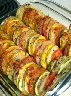 "*Paleo without cheese* Easy Recipes to Do: Tomato-Potato-Zuchinni-Summer Squash ""Casserole"""