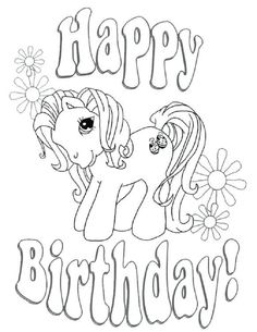 Adult coloring page Happy Birthday | Coloring birthday ...