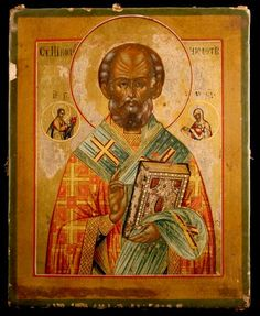 Russian Orthodox Icon Depicting St. Nicholas