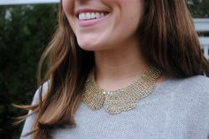 Sequins & Stripes. such a pretty necklace