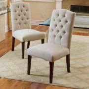 Piero Fabric Off-white Dining Chairs (Set of 2) $160 for a set of 2