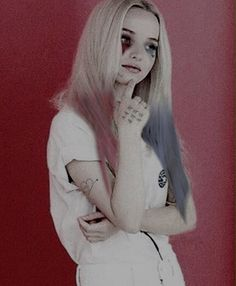 @DoveCameron as Harley Quinn.