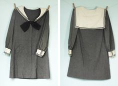 On High Seas - Vintage 1950s Black and White Sailor Dress by Jane Justin