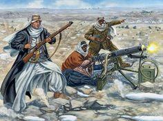 Lawrence of Arabia at the Battle of Tafila, 25 January by Giuseppe Rava Military Art, Military History, World War One, First World, Ww1 Battles, Arab Revolt, Ww1 Art, Naher Osten, Lawrence Of Arabia