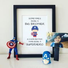 Sometimes Being a Big Brother Print by belovedboutiquewpg on Etsy