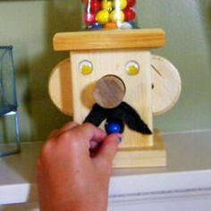 Wooden Gumball Machine
