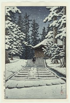 Snow At Konnikido by Kawase Hasui (1883 - 1957)