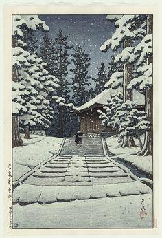 Hasui Kawase - Konjikido, Hiraizumi 1957