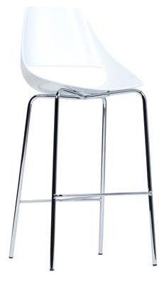 Nowra  Modern Plastic and Chrome Bar Stool 76cm in White - AU$349 -  sc 1 st  Pinterest & Zula