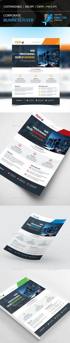 Corporate Flyer Template PSD, EPS, AI #design Download: http://graphicriver.net/item/corporate-flyer/13813522?ref=ksioks