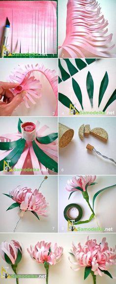 Как сделать бумажные цветы для украшения дома, выставки или свадьбы