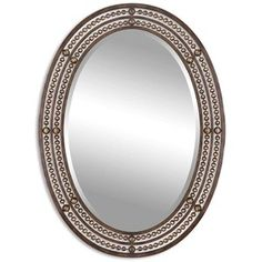 Uttermost 'Matney' Distressed Bronze Oval Wall Mirror