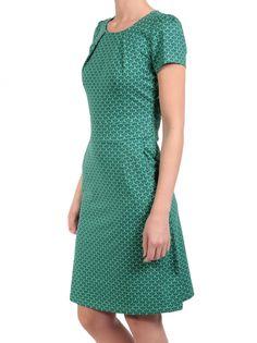 King Louie Jersey Jurk met Grafische Print Mona Dress Icono - Opal Groen