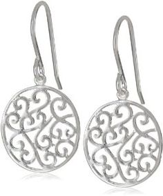 Sterling Silver Filigree Round Drop Earrings -- Thanks a lot for having visited our photo. (This is our affiliate link) Sterling Silver Filigree Round Drop Earrings -- Thanks a lot for having visited our photo. (This is our affiliate link) Pearl Stud Earrings, Round Earrings, Women's Earrings, Sterling Silver Filigree, Sterling Silver Earrings Studs, Fashion Earrings, Fashion Jewelry, Amazon, Jewellery Box