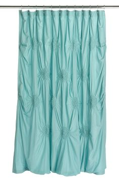 Shabby-chic shower curtains.