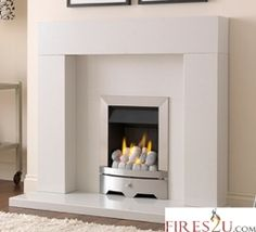 The Wonderfire Camden gas fire is a slimline is a contemporary gas fire with a pebble fuel effect.