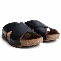 Papuci adulti Haflinger piele - Bio Mio Black-Haflinger-HipHip.ro Birkenstock, Espadrilles, Shoes, Black, Fashion, Sandals, Espadrilles Outfit, Moda, Shoe