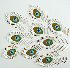 Paper Peacock Feathers By Lisa Rodden