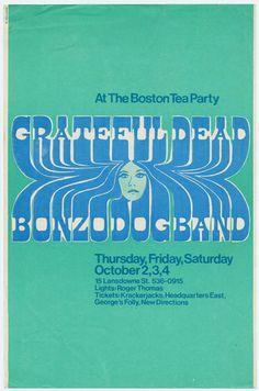 10/2-4/69 handbill  Venue: The Boston Tea Party, Boston, MA   Artist: Engstrom