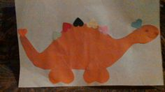 Our heart dinosaur for Valentine's day.