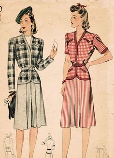 1940s Simplicity 4290 Vintage Sewing Pattern by midvalecottage