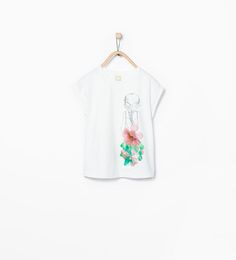Printed T-shirt with appliqués