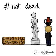 Sherlock 3 #notdead - Museum (.gif) OMG his mustache!!!