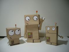 i think i'm done with this series. Cardboard Robot, Cardboard Design, Cardboard Crafts, Recycled Robot, Recycled Crafts, Robot Classroom, Maker Fun Factory Vbs, Robot Theme, Robot Illustration