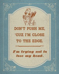 Old School Rap Kitsch - Don't Push Me Cuz I'm Close to the Edge