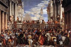he Marriage at Cana is a vast painting by the Venetian artist Veronese. The painting was looted by Napoleon and is now in the Louvre in Paris Caravaggio, Painting Prints, Fine Art Prints, Fra Angelico, Water Into Wine, Peter Paul Rubens, Renaissance Paintings, Art Sculpture, Great Paintings