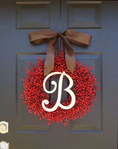 Winter Wreath, Valentine's Day Wreath, Red Berry Wreath, Christmas Wreath- Featured in Better Homes and Gardens Magazine