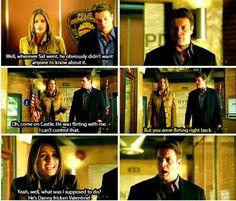 Beckett flirting