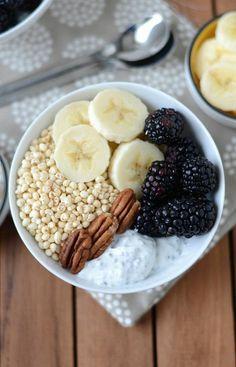 dessert aux fruits sain, menu équilibré délicieux