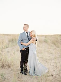 Elegant Sunset Engagement Session - #elegant #elegantwedding #engagement