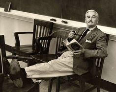 """""""No man ever put more of his heart and soul into the written word than did William Faulkner."""" — Eudora Welty In at the University of Mississippi, William Faulkner — an… William Faulkner, Groucho Marx, Writers And Poets, Writers Write, Scott Fitzgerald, People Reading, Book People, Books To Read, My Books"""