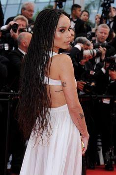 Zoe Kravitz Photos - 'Mad Max' Cannes Film Festival Red Carpet - Zimbio Zoe Kravitz Photos Photos - Zoe Kravitz is seen on the set of 'High Fidelity.' Zoe Kravitz Seen On The Set Of 'High Fidelity' Zoe Kravitz Style, Lenny Kravitz, Box Braids Hairstyles, Dreadlock Hairstyles, Hair Updo, Wedding Hairstyles, Zoe Kravitz Braids, Curly Hair Styles, Natural Hair Styles
