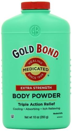 Gold Bond Medicated Extra Strength Powder, 10-Ounce Containers (Pack of 3) Gold Bond http://www.amazon.com/dp/B001G7QSQG/ref=cm_sw_r_pi_dp_G656ub0MNS8CW