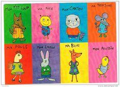 O987 Illustrazione Illustration Pascale Godard - Petit animaux / non viaggiata