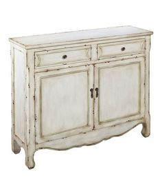 Weathered White Console Cupboard