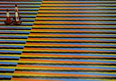 Floor Artwork by Carlos Cruz-Diez✖️Fosterginger.Pinterest.Com✖️No Pin Limits✖️More Pins Like This One At FOSTERGINGER @ Pinterest