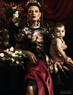 Bianca Balti in Dolce & Gabbana by Giampaolo Sgura for Interview Germany    Image via Fashion Gone Rogue