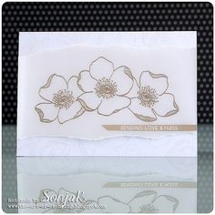SonjaK - The Art of Stamping: Stempelküche-Challenge: - Alles in Weiß Diy Father's Day Crafts, Fathers Day Crafts, Altenew Cards, Stampin Up Cards, Flower Stamp, Flower Cards, Simon Says, Leaf Cards, Challenge