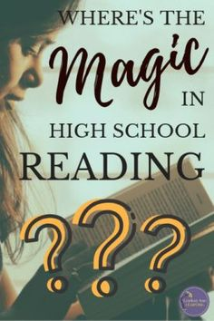 Has high school reading lost its magic? How can we as teachers shift our reading instruction to help students rediscover High School Reading, High School Classroom, High School Students, Teacher Blogs, Teacher Resources, Teacher Stuff, Teaching Strategies, Teaching Ideas, Teaching Career