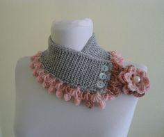 cuello punto cálido invierno tejido a mano regalo por likeknitting