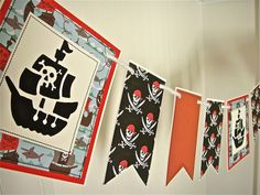 Pirate Banner Pirate Garland Boys Bedroom by SweetGeeseTreats, $25.00