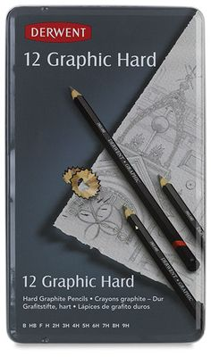I WANT: Derwent Graphic Hard Pencil Collection, Set of 12