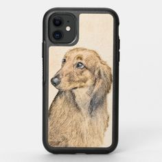 Dachshund (Longhaired) Painting - Original Dog Art OtterBox Symmetry iPhone 11 Case   dachshund drawing, dachshund shirt, dachshund christmas #dachshundfanclub #dachshundslover #dachshundsdaily Dachshund Tattoo, Dachshund Quotes, Dachshund Shirt, Dachshund Gifts, Funny Dachshund, Picasso Dachshund, Teacup Dachshund, Dachshund Costume, Dapple Dachshund Puppy